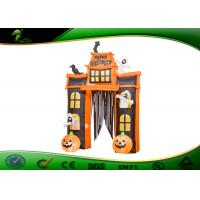 Buy cheap Inflatable Halloween Arch Decoration Inflatable Pumpkin / Ghost With Candy Tote product
