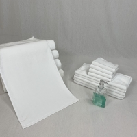 Buy cheap Rectangular Water Absorbent White Cotton Face Towel product