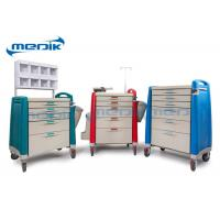 Buy cheap ABS Emergency Treatment Trolley Medical Crash Cart With Oxygen Cylinder Holder from wholesalers