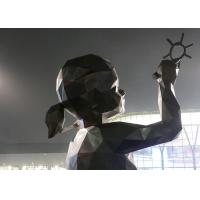 Buy cheap Antique Bronze Statue Drawing Girl Customized Size For Garden Decoration Design product