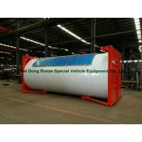 China Steel 20ft LPG Storage Tanks Container With Pump , LPG Skid Station ASME Certificate on sale