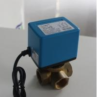 China 6 W Mixing Water Electric Ball Valve No Leakage For Heating / Cooling Systems on sale