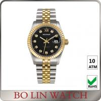 Buy cheap Charm Swiss Movt. 18K Solid Gold Watches For Aidult Mineral / Sapphire Glass product