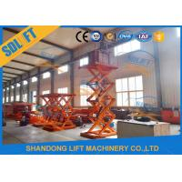 Quality 1T 3.5M Stationary Hydraulic Scissor Lift Warehouse Cargo Lift CE SGS TUV for sale