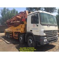 Buy cheap 48 Meter Sany Used Concrete Pump Truck 11420 * 2500 * 4000 Mm Diesel Power product
