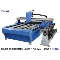 Buy cheap Blue CNC Plasma Metal Cutting Machine / Industrial Plasma Cutter With Rotary Axis product