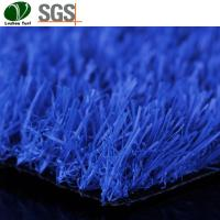 Buy cheap Indoor Outdoor Artificial Turf Blue Synthetic Grass Carpet Garden Landscaping product