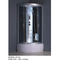 5mm Thickness fix glasses bathroom shower cabinets , shower tub enclosures with ventillation fan