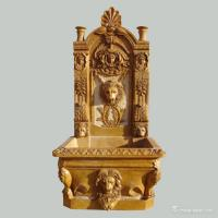 Buy cheap China marble Stone Carving Sculpture The yellow limestone wall fountain W-FTN07 product