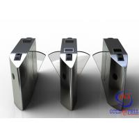China Full Automatic Flap Barrier Gate With Reader Card / Fingerprint Recognition For Gym / Club  Entrance on sale