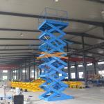 Buy cheap 5T 6M Heavy Duty Stationary Hydraulic Scissor Lift Warehouse Cargo Lift With CE product