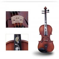 Buy cheap Tianyin Brand New Natural Ebony Professional Grading Test Violin Instruments  High Grade Hand made Solo Playing Violin product