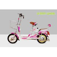 Quality Mini Cool Pedal Assist Electric Bike 350W 48V Pink White Fashion Throttle System for sale