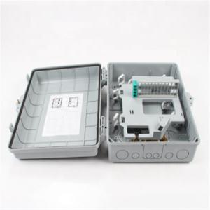China 24 Core Wall Mount Fiber Distribution Box ABS Shell , Waterproof FTTH Distribution Box on sale