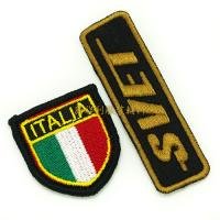 Buy cheap Embroidered Iron On Patches For Clothes , Single Custom Embroidered Patches product