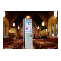 Buy cheap Network Multi Cell Phone Charging Station Kiosk With Big Advertising Screen product