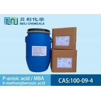 Buy cheap White crystalline powder P-anisic Acid 100-09-4 99.0% purity with stock product