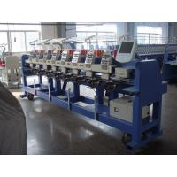 Buy cheap 9 Needle Flat / Hat /  Tubular Embroidery Machine With Fast Data Transmission from wholesalers