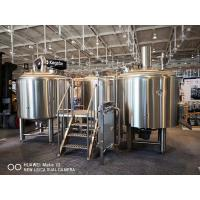 Buy cheap 10BBL Brewhouse Large Scale Brewing Equipment Semi Auto Control Panel product