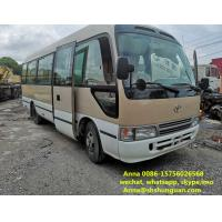 Buy cheap 26 - 30 Seats 2015 Mini Used Coaster Bus 6620 * 2240 * 3020 Mm Manual Transmission product