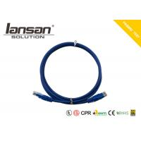 Buy cheap Dark Blue Color Cat6 Patch Cord UTP 24AWG PVC Round Shaped RJ45 With PVC Jacket product