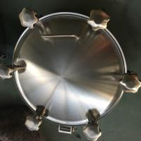 Buy cheap Sanitary Stainless Steel Inwards Opening Elliptical Manways Manlids product