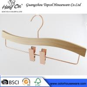 Buy cheap Rose gold wooden hanger pants hanger trousers hanger bottom hanger product