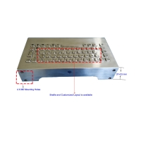 Buy cheap Wall Mount SUS304 IP68 Rugged Industrial Metal Keyboard product