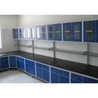 Buy cheap Floor Mounted All Wood Lab Bench / Plywood Lab Island Bench MDF White Color product