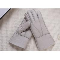 Buy cheap Double Face Winter Sheepskin Leather Gloves With Lambswool Lining / Natural Dyed Color product