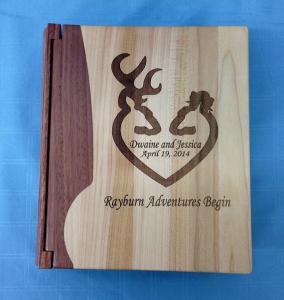 China Wooden Photo Album Witn Engraving Logo on sale