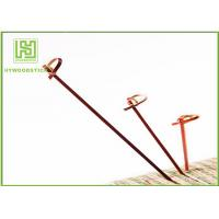 Buy cheap Red Bamboo BBQ Sticks Knotted Bamboo Skewers For Fruit 70 / 80 / 105 / 120mm product