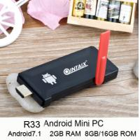 Buy cheap RK3328 Quad Core Android Stick R33 MINI TV Android 7.1 Dual band wifi H.265 from wholesalers