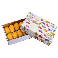 Buy cheap White Fruit Strong Cardboard Boxes , OEM Square Cardboard Boxes With Lids from wholesalers