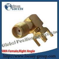 Buy cheap sma female connector jack Panel Mount PCB Solder Right Angle goldplated sma connector from wholesalers
