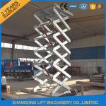 Buy cheap Customized Hot Galvanizing Stationary Hydraulic Scissor Lift , Fixed Hydraulic Cargo Lift CE product