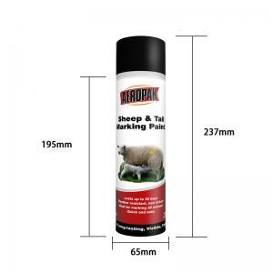 Buy cheap Acrylic 500ml Aerosol Animal Marking Paint Spray ISO9001 product
