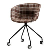 Buy cheap Modern Patchwork Dining Chairs Comfortable Armchair Style With Wheels product