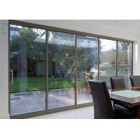 China American Thermal Break Residential Aluminium Sliding Doors With Security Wire Mesh on sale