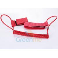 Buy cheap 1.5M Long Quality Red Plastic Spring Coil Fishing Lanyard With  Strap 2pcs product