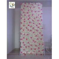 Buy cheap UVG 8ft white photography backdrops in silk wedding flower wall for event stage from wholesalers
