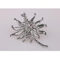 Artificial Flower Ladies Silver Brooches And Pins Brooch Costume Jewelry