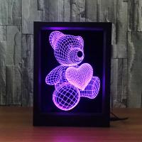 Buy cheap 2018 Novelty fashional 3D picture frame led night light,   acrylic decorative atmosphere  led table lamp from wholesalers