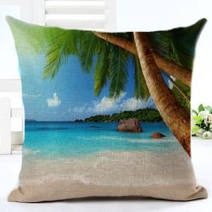 Buy cheap Beach Throw Pillow Covers Seaside Tropical Coconut Palm Beach Chair Summer Decorative Cushion Covers Pillowcase(Seaside) product
