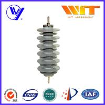 Buy cheap Silicon Rubber Zinc Oxide Lightning Arrester 33KV Surge Diverter for Transformer Protection product