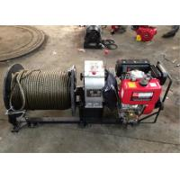 Buy cheap 3 Ton Cable Drum Diesel Cable Winch Puller With 200 Meters Wire Rope product