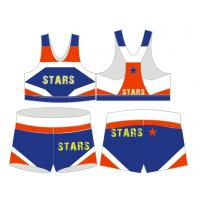 China cheerleader outfit ,cheerleading clothing ,cheerleading squad .girl singlet ,girl short on sale