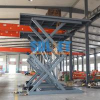 Buy cheap 3T 5M Auto Lift Hydraulic Scissor Car Lift Underground Car parking Lift with CE product
