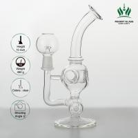 Custom Tobacco Tube Glass , 8 Inches 2 In 1 Inline Water Pipe Smoking Glass