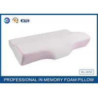 Buy cheap Colorful Tencel Cover / Pipping Raised Curved Memory Foam Pillow 23.7X13.5X2.5-4.2 Inch product